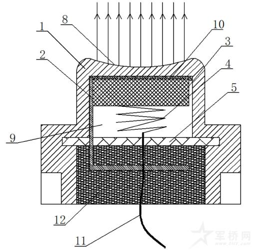 发明背景     现有的超声波传感器为外开角传感器,其声波距离越