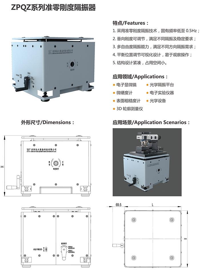 远大 ZPQZ系列准零刚度隔振器