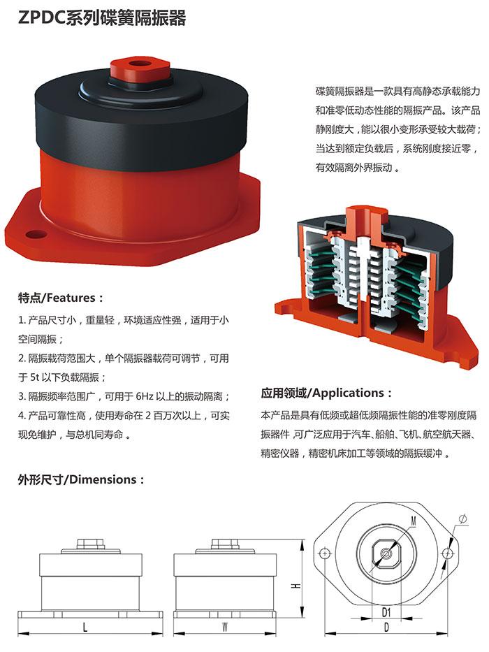 ZPDC系列碟簧隔振器
